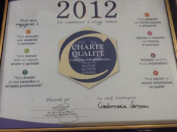 Charte de qualité 2012