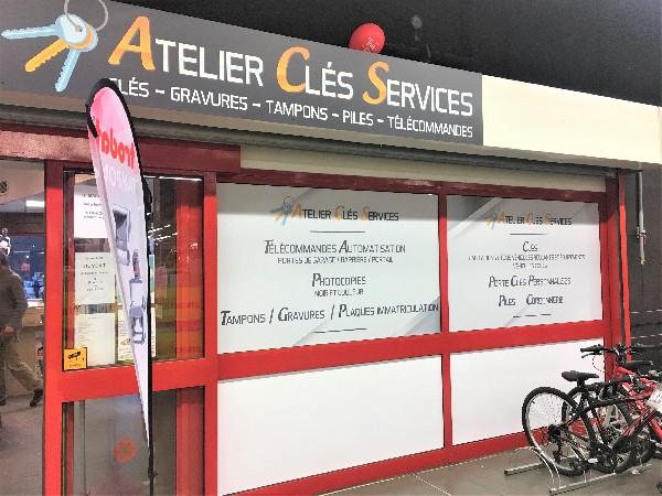 Devanture intérieure (galerie marchande Carrefour Market)